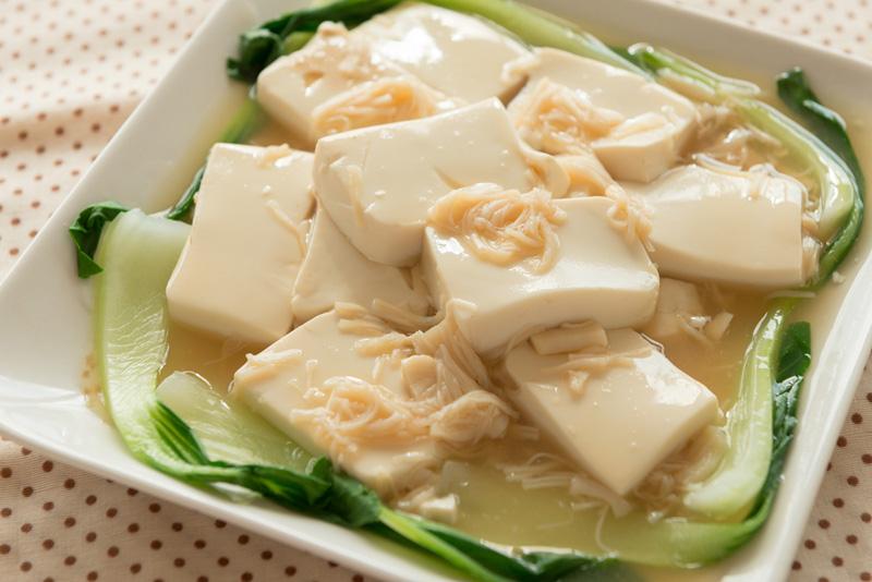 絹ごし豆腐のホタテ煮