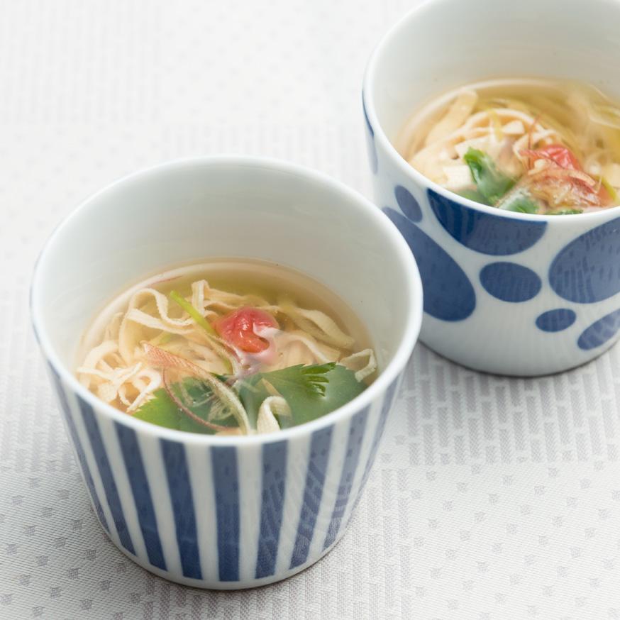 豆腐麺のすまし汁