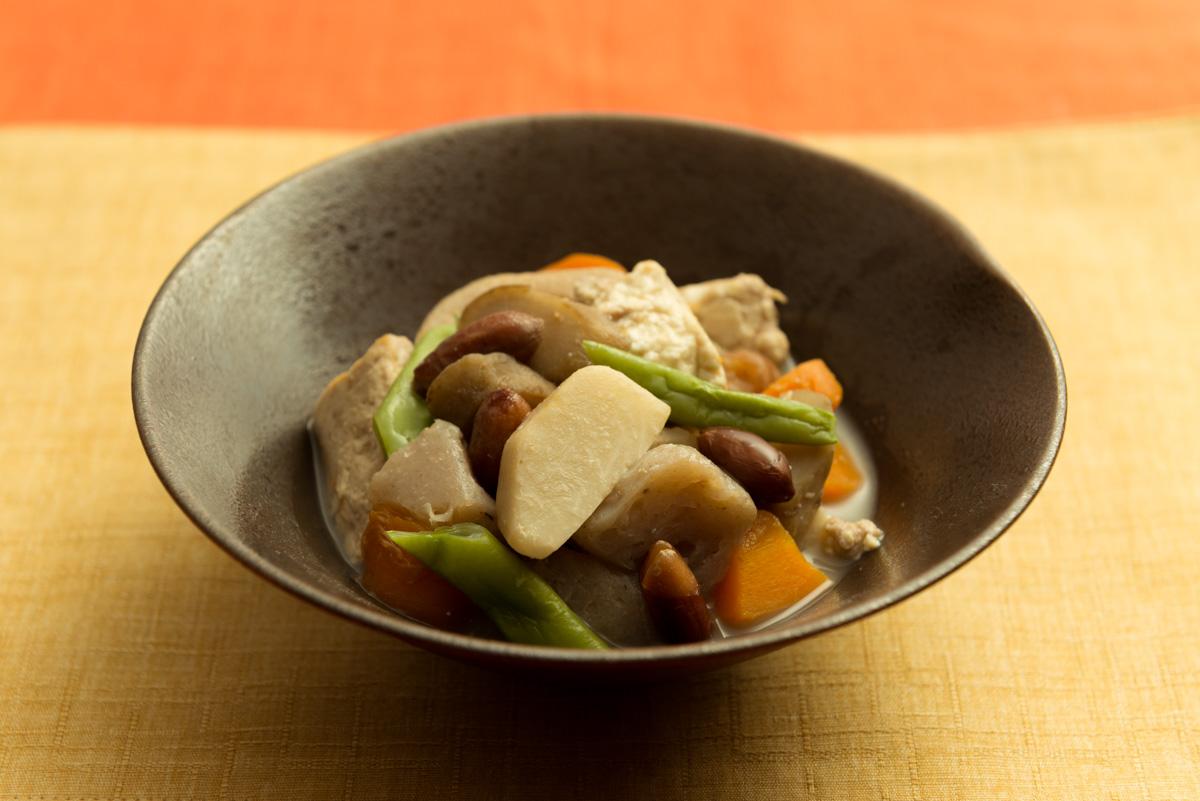 豆腐と秋野菜のけんちん煮