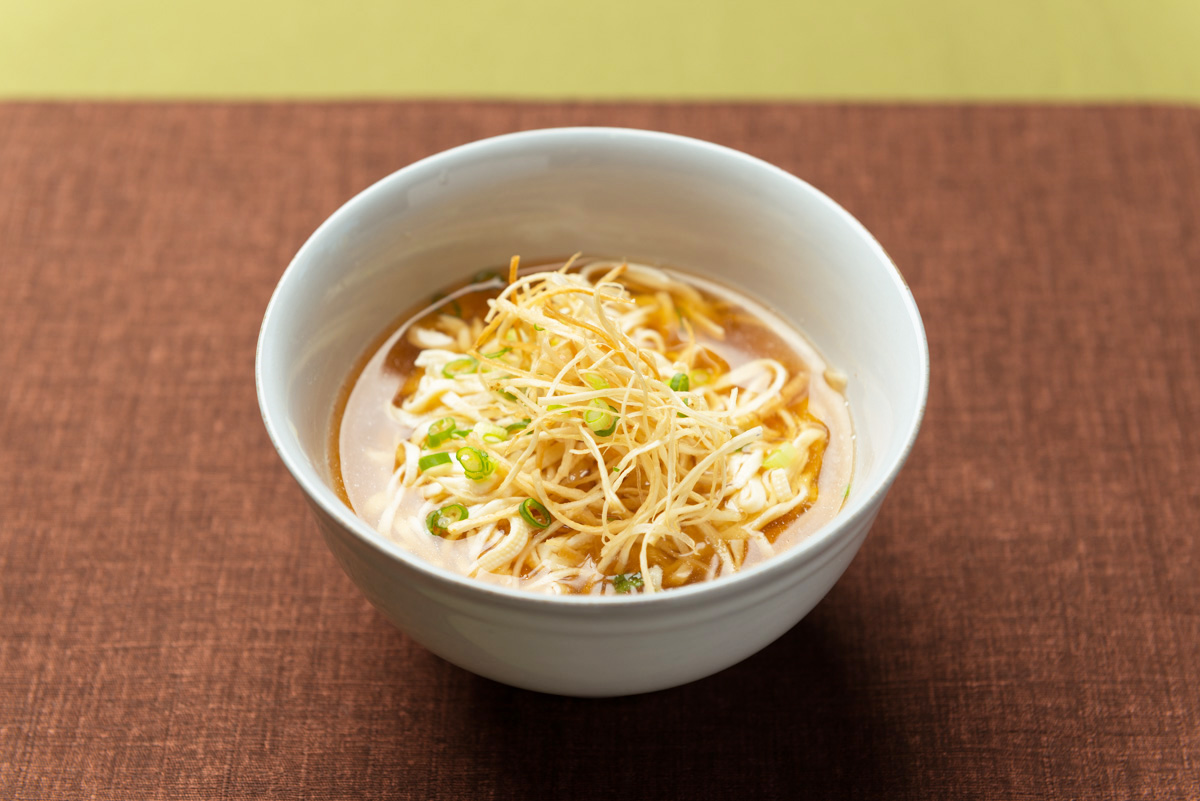 揚げごぼうの豆腐麺