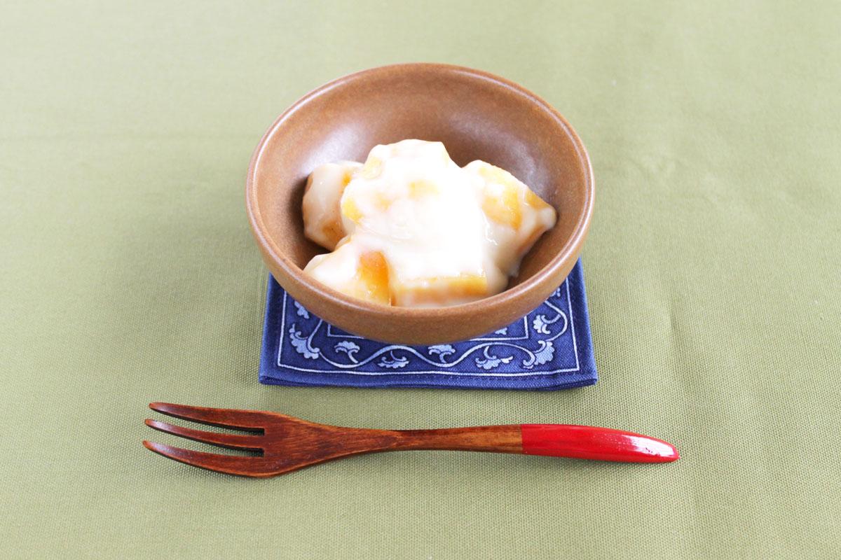 柿の豆乳クリーム和え