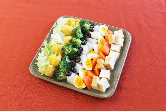 コブサラダ 豆腐ドレッシング