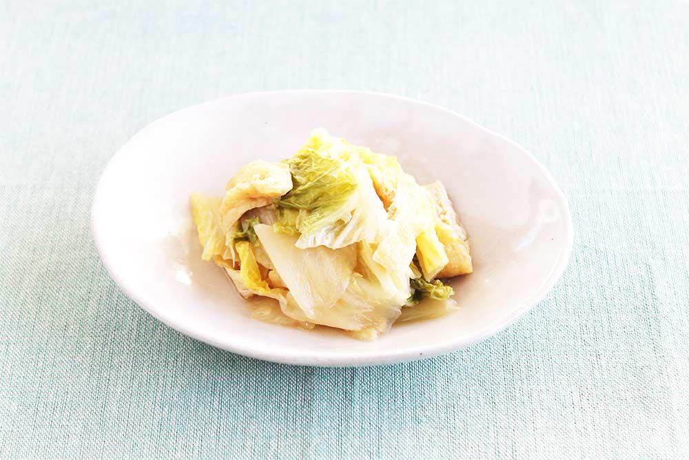 白菜と油揚げの煮浸し