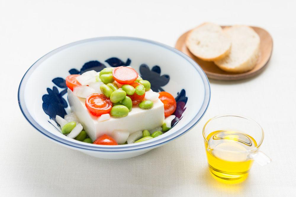 枝豆とミニトマトの塩奴