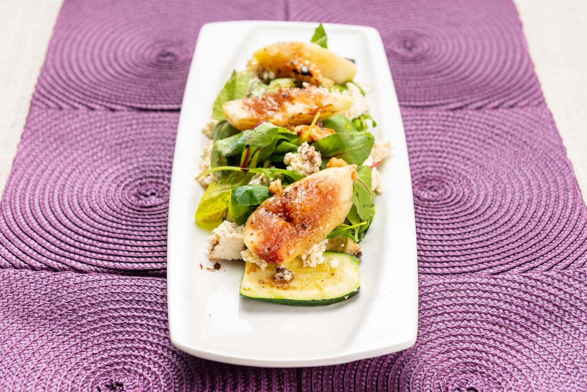 いちじくと堅豆腐のサラダ