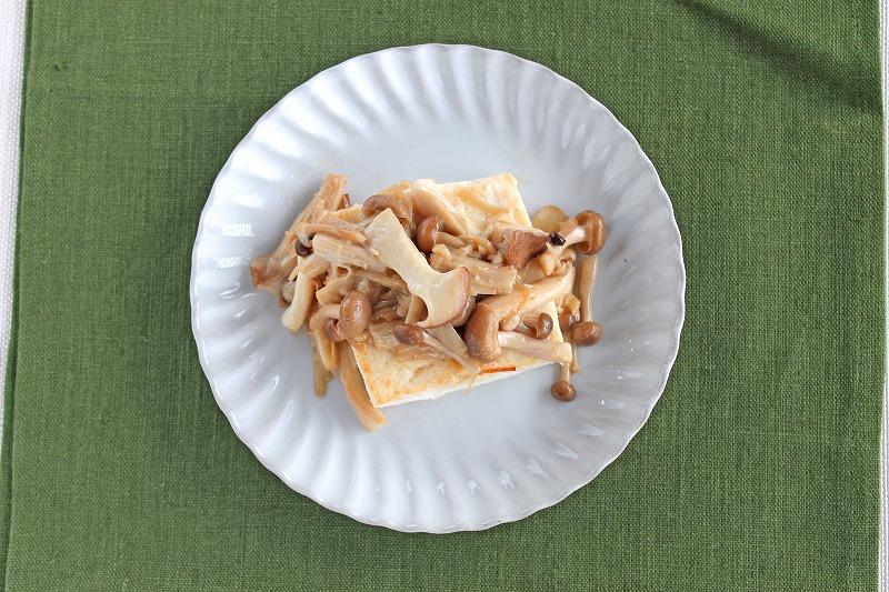 豆腐ときのこのバターソース