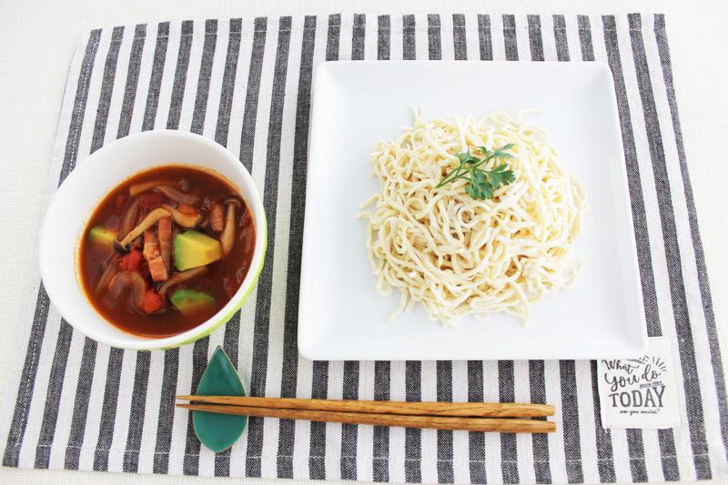 豆干絲のトマトつけ麺